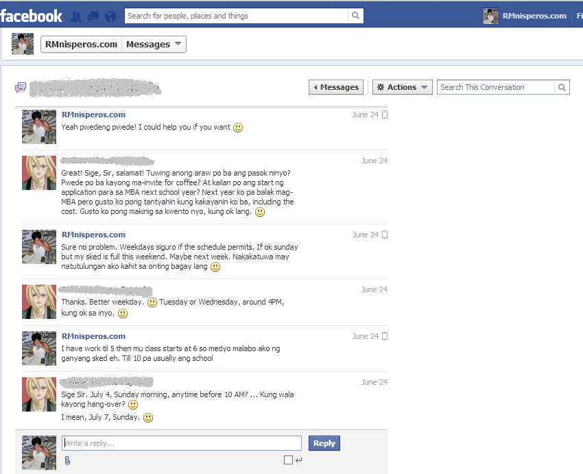 Facebook Chat (2 of 5)