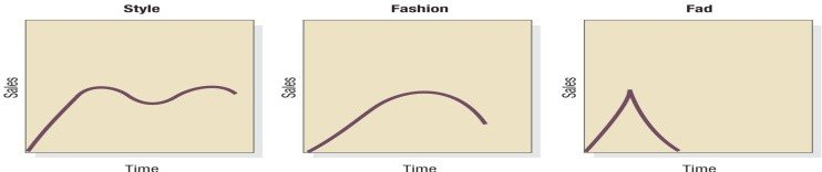 Syle, Fashion, and Fad Life Cycles