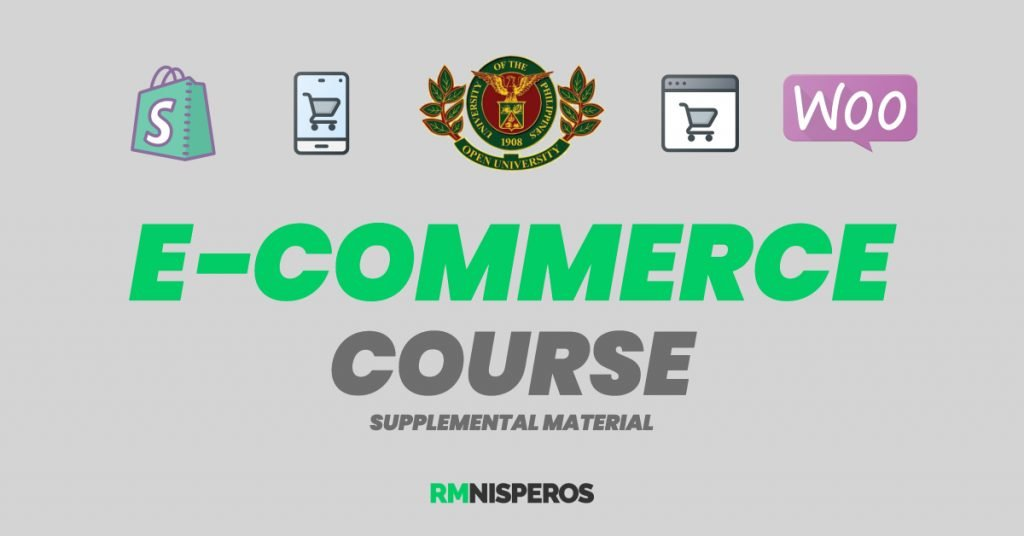 upou e-commerce course supplemental resources